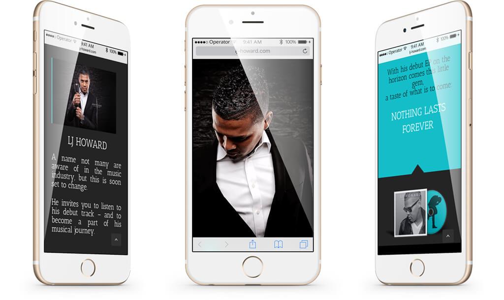 LJ Howard Homepage on iPhone