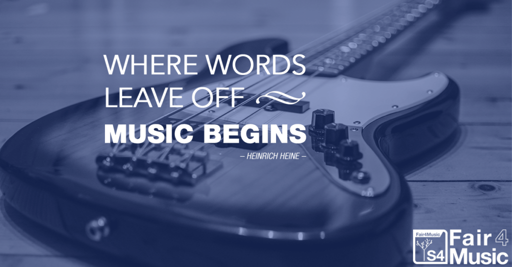 Where words leave off - music begins